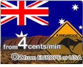 4cents/min calls to Australia from European landlines or mobiles