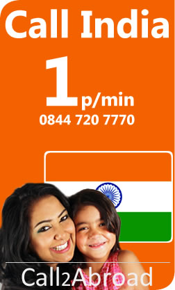 1p/min calls to India from UK landlines or mobiles