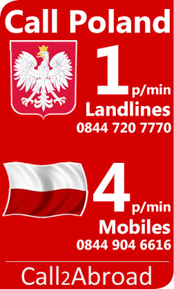 4p/min calls to Poland Mobiles from the UK