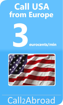 3 cents/min calls to USA from European landlines or mobiles