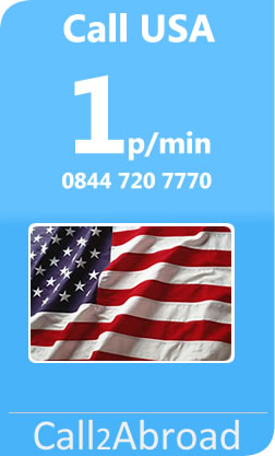 1p/min calls to USA from UK landlines or mobiles